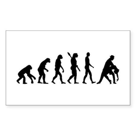 Evolution dancing tango Sticker (Rectangle)