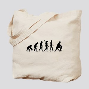 Evolution dancing tango Tote Bag