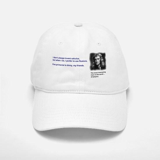 Isaac Newton - inventor of calculus Baseball Baseball Cap