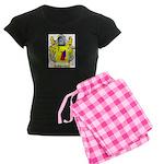 Angiolillo Women's Dark Pajamas