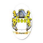 Anglish Oval Car Magnet
