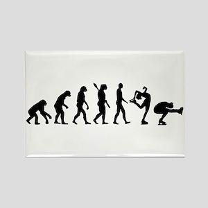 Evolution Figure skating Rectangle Magnet