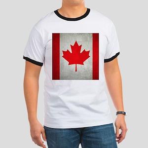 Grunge Canada flag Ringer T