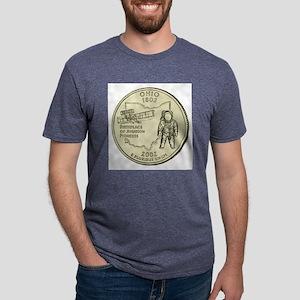 Ohio Quarter 2002 Basic Mens Tri-blend T-Shirt