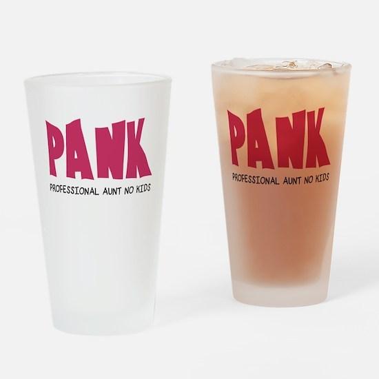 PANK Professional Aunt No Kids Drinking Glass
