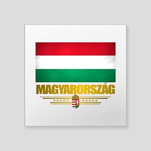 "Hungary (Flag 10) Square Sticker 3"" x 3"""