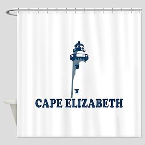 Cape Elizabeth ME - Lighthouse Design. Shower Curt