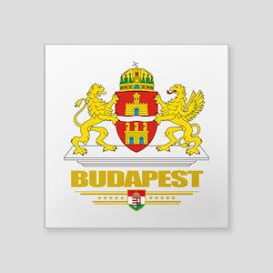 "Budapest COA (Flag 10) Square Sticker 3"" x 3"""