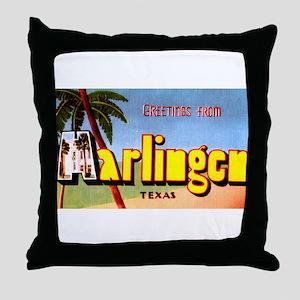 Harlingen Texas Greetings Throw Pillow