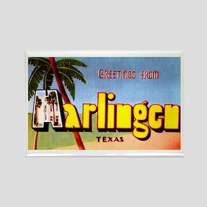 Harlingen Texas Greetings Rectangle Magnet