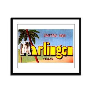 Harlingen Texas Greetings Framed Panel Print