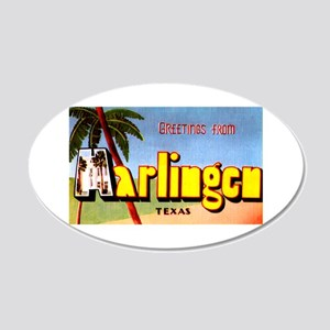 Harlingen Texas Greetings 20x12 Oval Wall Decal