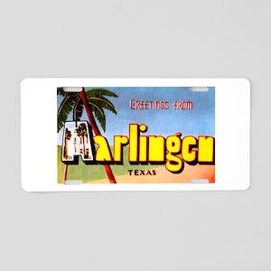 Harlingen Texas Greetings Aluminum License Plate