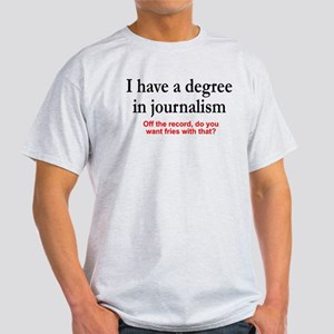 I have a degree In journalism. Fries with that? Li