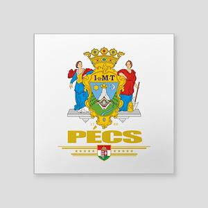 "Pecs COA (Flag 10) Square Sticker 3"" x 3"""
