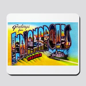 Indianapolis Indiana Greetings Mousepad