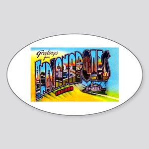 Indianapolis Indiana Greetings Sticker (Oval)