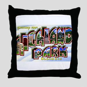 Highland Park Illinois Greetings Throw Pillow