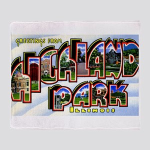 Highland Park Illinois Greetings Throw Blanket