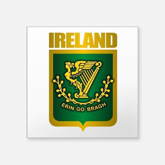 "Irish Steel (Shirt).png Square Sticker 3"" x 3"""