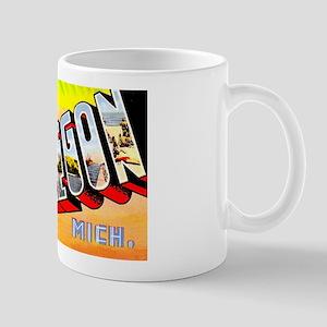 Muskegon Michigan Greetings Mug