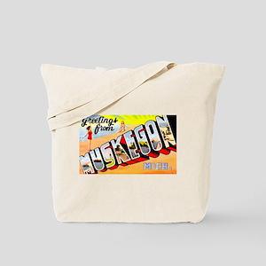 Muskegon Michigan Greetings Tote Bag