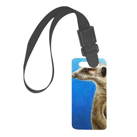 Alert Meerkat Small Luggage Tag