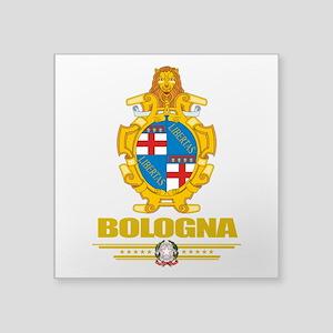 """Bologna (Flag 10) Square Sticker 3"""" x 3"""""""