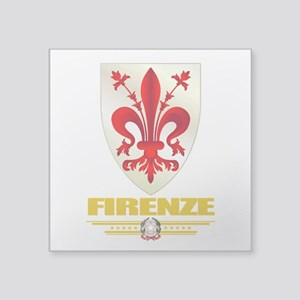 "Firenze (Flag 10) Square Sticker 3"" x 3"""