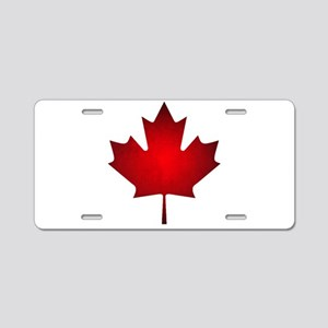 Maple Leaf Grunge Aluminum License Plate