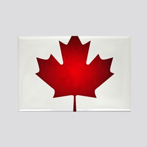 Maple Leaf Grunge Rectangle Magnet