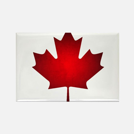 Maple Leaf Grunge Rectangle Magnet