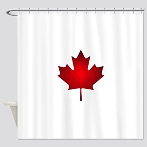 Maple Leaf Grunge Shower Curtain