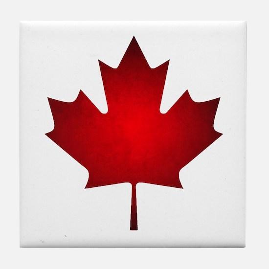 Maple Leaf Grunge Tile Coaster