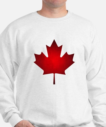 Maple Leaf Grunge Sweatshirt