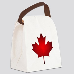 Maple Leaf Grunge Canvas Lunch Bag