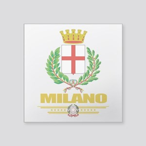 """Milano (Flag 10) Square Sticker 3"""" x 3"""""""