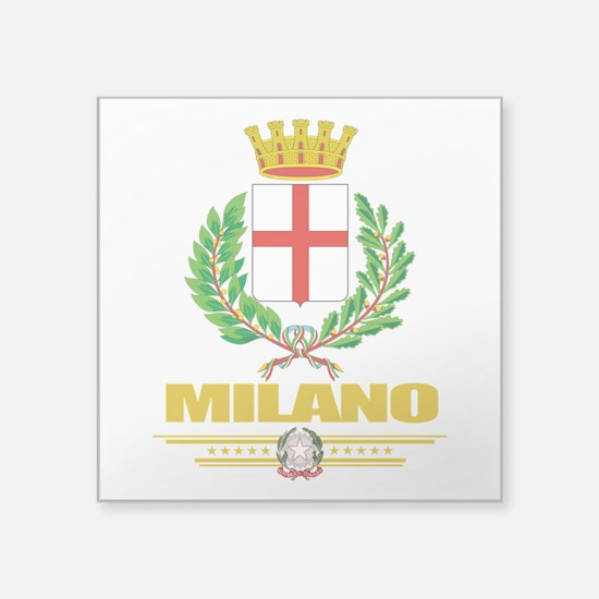 "Milano (Flag 10).png Square Sticker 3"" x 3"""