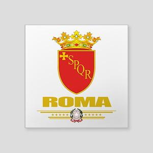 "Rome (Flag 10) Square Sticker 3"" x 3"""
