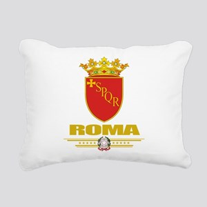 Rome (Flag 10) Rectangular Canvas Pillow