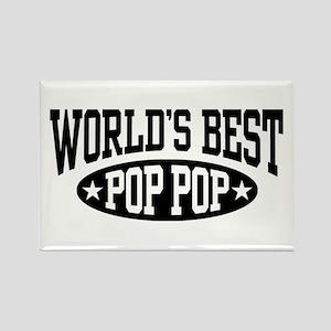 World's Best Pop Pop Rectangle Magnet