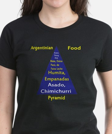 Argentinian Food Pyramid Women's Dark T-Shirt
