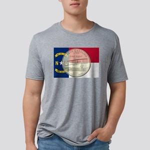 North Carolina Quarter 2001 Mens Tri-blend T-Shirt