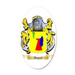 Angyal Oval Car Magnet