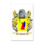 Angyal Rectangle Car Magnet