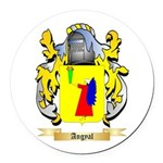 Angyal Round Car Magnet