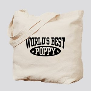 World's Best Poppy Tote Bag