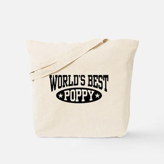 World's Best Poppy Tote Bag