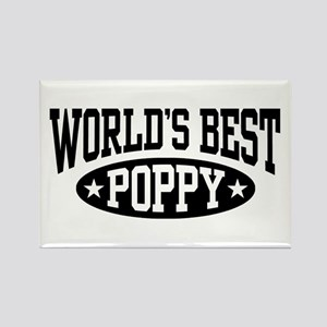 World's Best Poppy Rectangle Magnet
