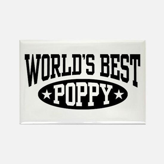 World's Best Poppy Rectangle Magnet